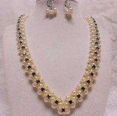 V Pearl necklace from JMP member Gmoodify. http://www.jewelrymakingprofessormembers.com