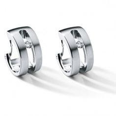 Humphrey Creolen Edelstahl Diamant kaufen - http://www.steiner-juwelier.at/Schmuck/Humphrey-Creole-Diamant-Damast::439.html