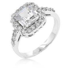 Pave Asscher Ring