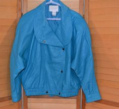 Chanel Fashion, Chanel Style, Vintage Coat, Denim Button Up, Button Up Shirts, Street Wear, Bomber Jacket, Nordstrom, Turquoise