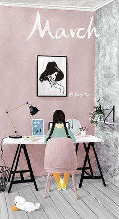Doodle Illustration, Ilustration Art, Seasons Art, Calendar Wallpaper, Drawings, Cartoon Wallpaper, Cute Drawings, Art Wallpaper, Watercolor Illustration