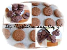Jedlíkovo vaření: sušenky - domácí sušenky oreo #xmas #christmas #baking #cukrovi #vanoce #susenky #cookies #oreo Place Card Holders, Cookies, Chocolate, Desserts, Food, Crack Crackers, Tailgate Desserts, Biscuits, Schokolade