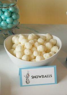 Original idea para comida aperitivo de una fiesta temática Frozen. Tus invitados se quedarán de hielo