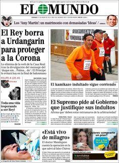 Los Titulares y Portadas de Noticias Destacadas Españolas del 27 de Enero de 2013 del Diario El Mundo ¿Que le parecio esta Portada de este Diario Español?
