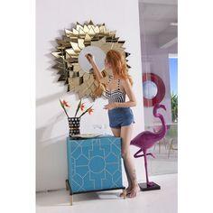 Spiegel Sunflower Round Ø120cm - KARE Design #kareaustria #karedesign #kare #karewien #miami #lounge #kommode #spiegel #sun #interior #design