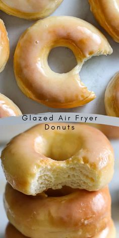 These Glazed Air Fryer Donuts (from scratch) are the perfect thing for your sweet tooth. Moist, fluffy, and light, they will melt in your mouth. #Pastries #Desserts #Airfryer #Holiday #Donuts Best Breakfast Recipes, Sweet Breakfast, Breakfast Dishes, Brunch Recipes, Gourmet Recipes, Sweet Recipes, Dessert Recipes, Macaroon Recipes, Donut Recipes