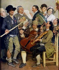 ♪ The Musical Arts ♪ music musician paintings - Johann Zoffany | La Scartocciata, c.1778