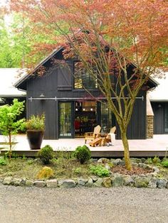 Nice stain color. Cala Woods Residence and Studio - traditional - exterior - seattle - by Johnson Squared Architecture + Planning