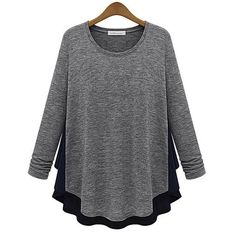 Women Lady Female T-shirt Pullover Long Sleeve oculos Top Casual T shirt Long Tunic Asymmetric Loose Shirts Tracksuit for Women