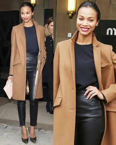 Zoe Saldana Parisian chic Fall 2013