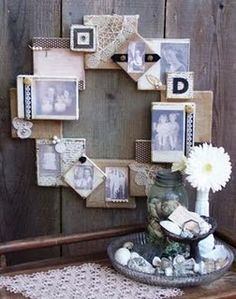 Canvas Collage Wreath
