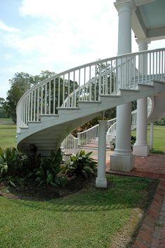 Evergreen Plantation Front Staircase Edgard Louisiana The Main House Was Built Circa 1790