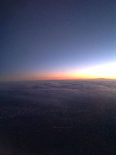 Sunset over the Rockies at 39,000 feet!  Awesome!