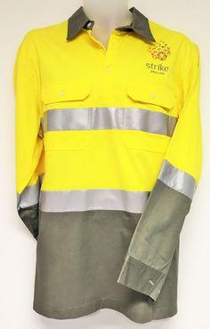 54511a9f8 Hi-Vis Cotton Drill Work Shirt for Strike Drilling - Custom Made Workwear