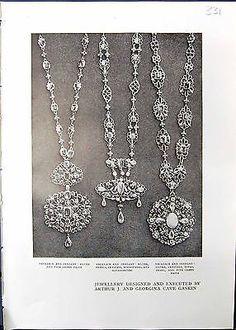 Print Jewellery Arthur Georgina Cave Gaskin Pendant Silver Pearl Opals 331G335