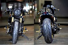 What happens when a pro racer decides to turn a Harley Davidson Street 500 into a cafe racer? Find out in this exclusive feature from Indonesia. Street Motorcycles, American Motorcycles, Old Motorcycles, Harley Davidson Street 500, Harley Davidson Motorcycles, Street Bob, Street Tracker, Suzuki Cafe Racer, Cafe Racers