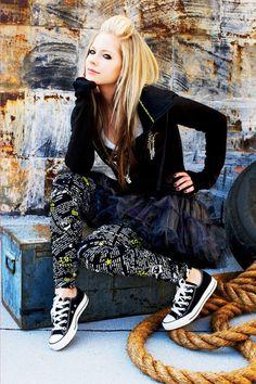 Look all star preto - Avril Lavigne
