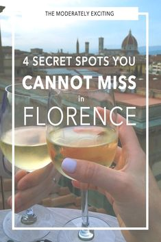 4 Secret Spots You CAN'T Miss in Florence Italy! From rooftops with a view to secret wine shops that fill your old bottles for loose change, to secret late-night bakeries for those with a sweet tooth, this is your city guide to them all in Florence! #ItalyVacation