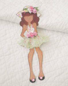 Handmade Scrapbook Prima Julie Nutting Paper Doll Paper Piecing by Becky #ShabbyCottageHandmade
