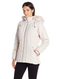 Weathertamer Women's Puffer Coat with Braided Rouched Side Detailing *** This is an Amazon Affiliate link. Click image for more details.