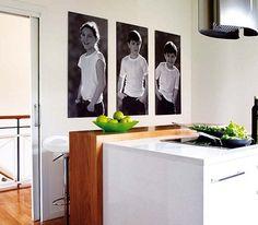 decoracion con fotos,esta idea me fascina!.