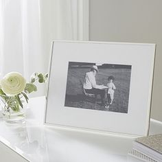 """Buy Fine Silver Frame 5 x 7"""" - from The White Company"""
