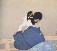 Woman Waiting for the Moon to Rise - Uemura Shoen