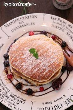 「ふわふわ☆スフレパンケーキ」きょうこcafe | お菓子・パンのレシピや作り方【corecle*コレクル】
