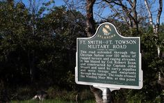 Historical Marker for Ft. Smith-Ft. Towson Military Road on Talimena Scenic Drive