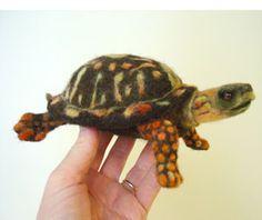 Needle Felted Wool Turtle