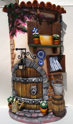 Doll House Crafts, Hobby House, Tile Crafts, Play Clay, Bottle Art, Creative Crafts, Art Boards, Biscuit, Whimsical