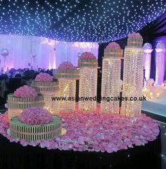 asian wedding cakes planning your Extravagant Wedding Cakes, Elegant Wedding Cakes, Beautiful Wedding Cakes, Cake Table Decorations, Christmas Cake Decorations, Wedding Themes, Wedding Decorations, Luxury Wedding, Dream Wedding
