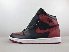 check out 418c2 56b94 Men Nike Air Jordan 1 Retro High Black Venetian Red Hot Sale Michael Jordan  Shoes,