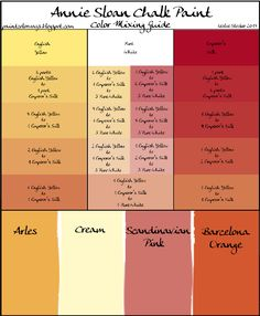 Colorways annie sloan chalk paint mixing recipe chart for for How to mix grey paint