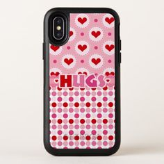 Modern Heart Hugs OtterBox Symmetry iPhone X Case - girly gift gifts ideas cyo diy special unique