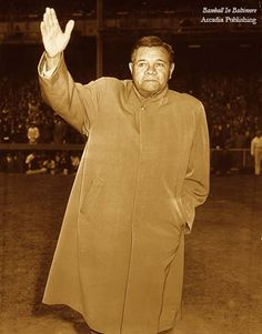"""On this Day in History, April 27, 1947: """"Babe Ruth Day"""" was held at Yankee Stadium to honor the ailing baseball star. As he grew increasingly ill, he still made appearances before appreciative crowds."""