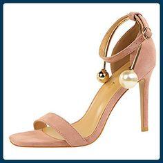 e5ffb457ae101 Azbro Women s Square Toe Stiletto Heels Stiletto with Metal Pearl