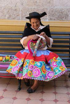 Sra. Elena, hand embroidery teacher