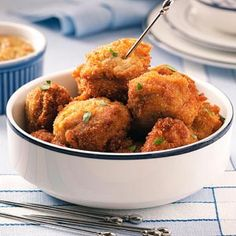 Dutch Meatballs (Bitterballen) Recipe - taste of home Meatball Recipes, Beef Recipes, Cooking Recipes, Bitterballen Recipe, Warm Appetizers, Dutch Recipes, Best Comfort Food, Burger, Main Dishes