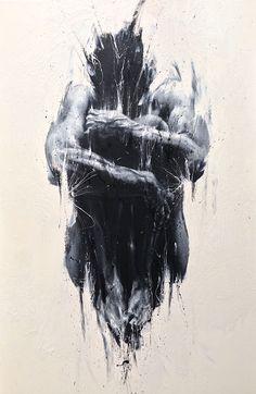 Paolo Troilo - Rannicchiati hand painting