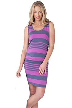 8dba47c94ab4d Ripe Maternity And Nursing Stripe Tank Dress PurpleBlue Large * Check this  awesome product by going to the link at the image.Note:It is affiliate link  to ...