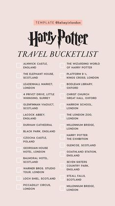travel destinations scotland story templates harry-potter kelsey henrichs kelseyinlondon harry potter bucket list harry potter would you rather harry potter this or that