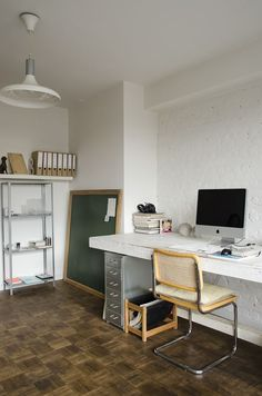 Home Office Design, House Design, Cool Office Space, Office Spaces, Interior Architecture, Interior And Exterior, Home Studio, Creative Home, Interior Inspiration