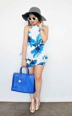 Ana Clara Campelo: Look: Azul e Branco