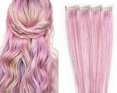 Handcrafted Goods, Jewelry, Accessories, & Mermaid Hair by TheIndiegoEmporium Long Hair Extensions, Clip In Extensions, 100 Human Hair, Pink Hair, Rose, Hair Clips, Palace, Tulle, Hairstyles