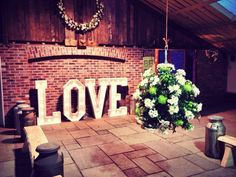 LIGHT UP LETTERS. Perfect for barn weddings and making your wedding personal! NORTH WEST UK
