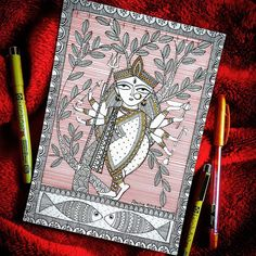 Durga Painting, Kerala Mural Painting, Madhubani Painting, Pichwai Paintings, Indian Art Paintings, Kalamkari Painting, Madhubani Art, Indian Folk Art, Sketch Painting