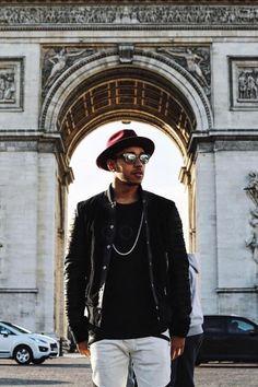 Lewis Hamilton wearing Balmain Black Velvet
