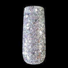 クリアシルバー混合サイズネイルグリッターパウダー六角形状グリッターネイルアートグリッターパウダーブリリアント釘装飾253
