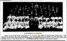 16 April 1914 Maryborough Eisteddfod - Maryborough Philharmonic Society Choir, Conductor Mr Chas Kerningham, 1st Place